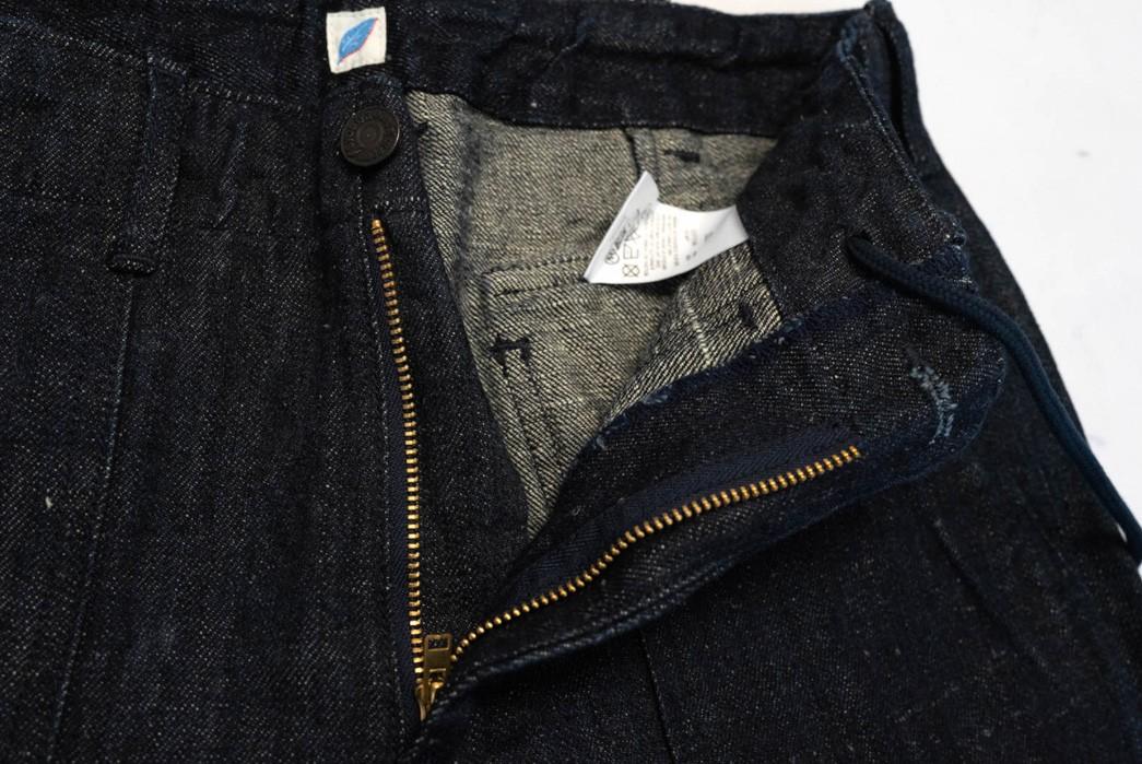 PBJ-Issues-Baker-Shorts-In-12-Oz.-Cotton-Hemp-Denim-front-open-zipper