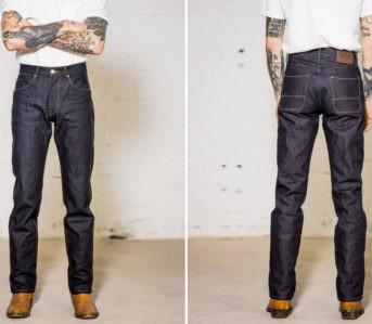 Straddle-2021-In-Freenote-Cloth's-Wilkes-Jean-In-Kaihara-Mills-Denim-model-front-back