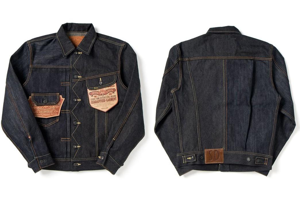 Unique-Denim-Jackets-Part-II---Five-Plus-One-Plus-One---Studio-d'Artisan-SP-500-40th-Anniversary-Suvin-Gold-Crazy-Denim-Jacket