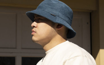 American-Trench-Sews-Up-Its-Corduroy-Bucket-Hat-in-NYC-model