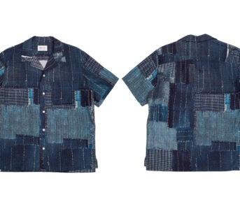 KUON-Champions-Boro-With-Its-Cotton-Linen-Hawaiian-Shirt-front-back