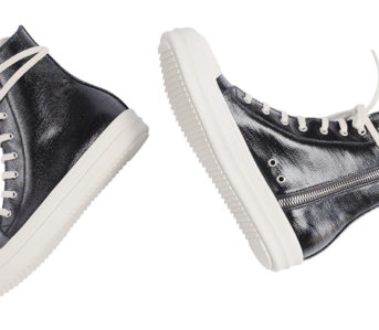 Leave-Home-In-Rick-Owen's-Lacquered-DRKSHDW-Denim-Ramones-Sneakers