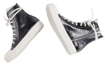 Leave-Home-In-Rick-Owen's-Lacquered-DRKSHDW-Denim-Ramones-Sneakers