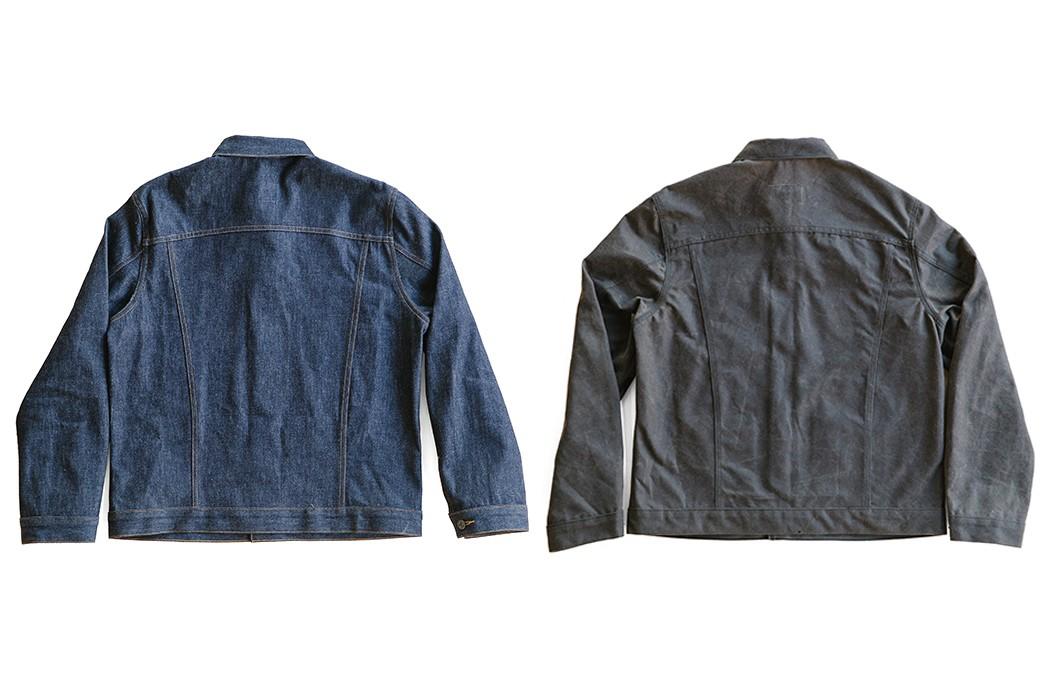 Loyal-Stricklin-Latest-Wayman-Jacket-Trades-Leather-For-Denim-and-Waxed-Canvas-backs