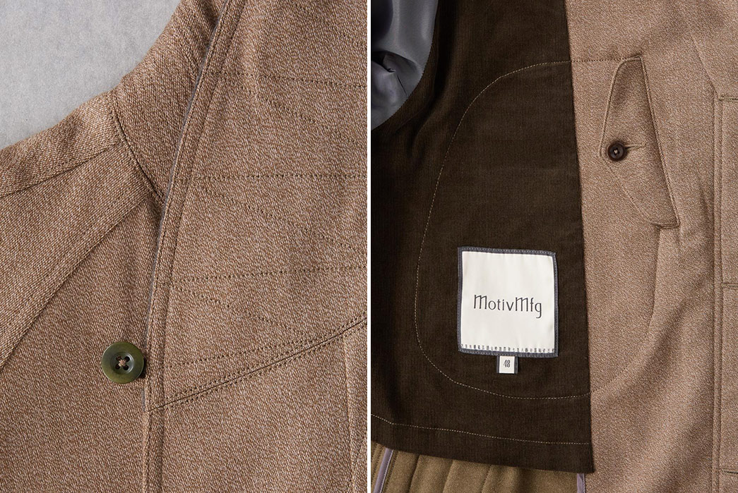 MOTIVMFG's-English-Army-Kapok-Covert-Coat-Is-Not-Very-Covert-shoulder-and-inside