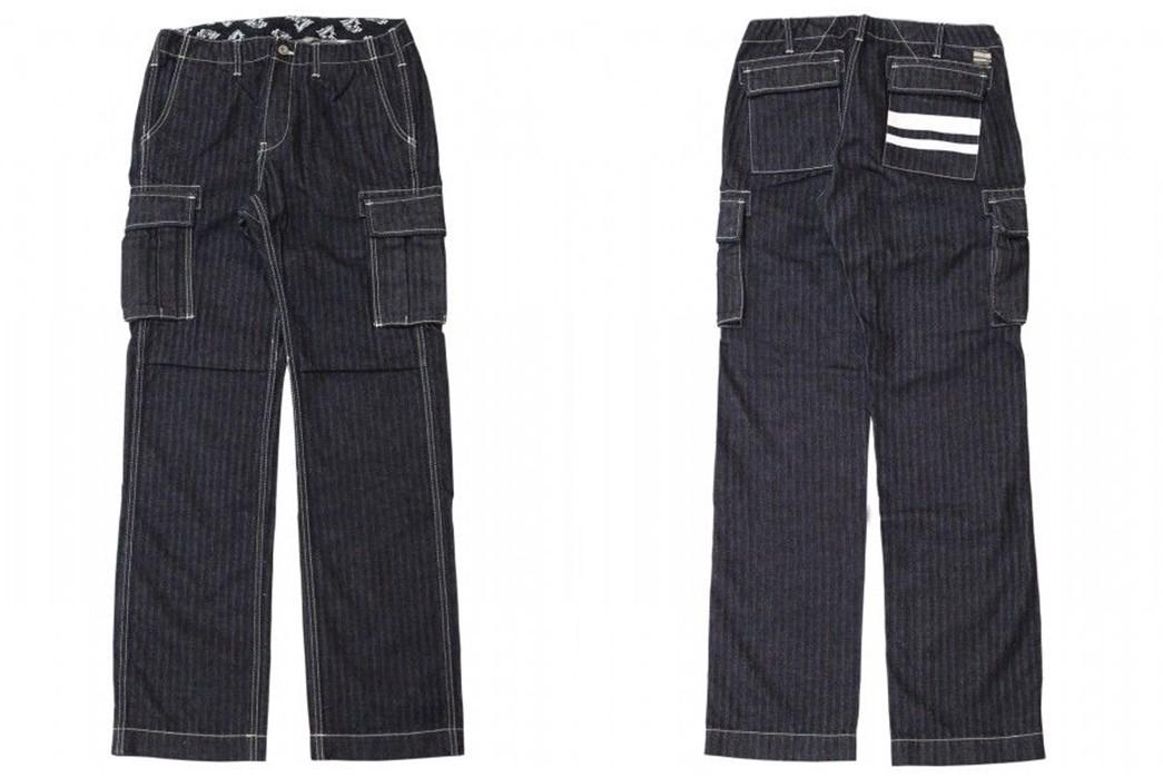 Cargo-Pants-Volume-III---Five-Plus-One-Plus-One---Momotaro-01-037-GTB-Herringbone-Denim-Cargo-Pants