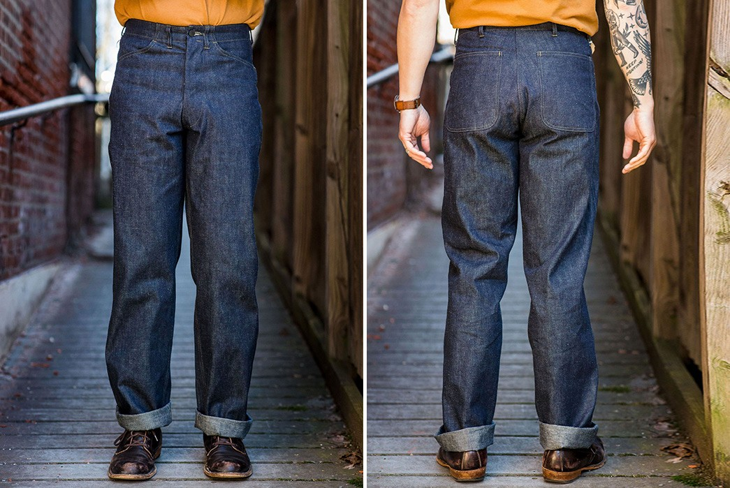 Ditch-Your-Five-Pockets-For-Mister-Freedom's-10-oz.-Denim-Raiders-Trousers-model-front-back
