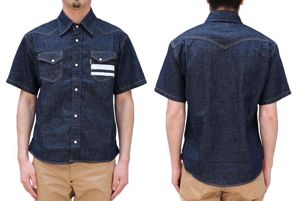 Go-To-Battle-Western-Style-With-Momotaro's-Latest-Short-Sleeve-Shirt-front-back-model