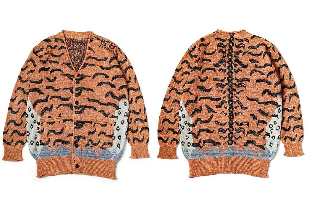 Kapital-Made-A-Cardigan-Based-On-Tibetan-Tiger-Rugs-front-back