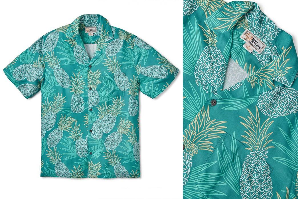 Rayon-Aloha-Shirts---Five-Plus-One-5)-Reyn-Spooner-Hawaii-Gold