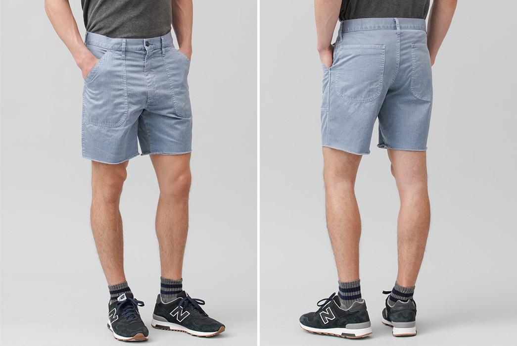 Save-Khaki-Chops-Up-Herringbone-Shorts-For-Summer-blue-front-back-model