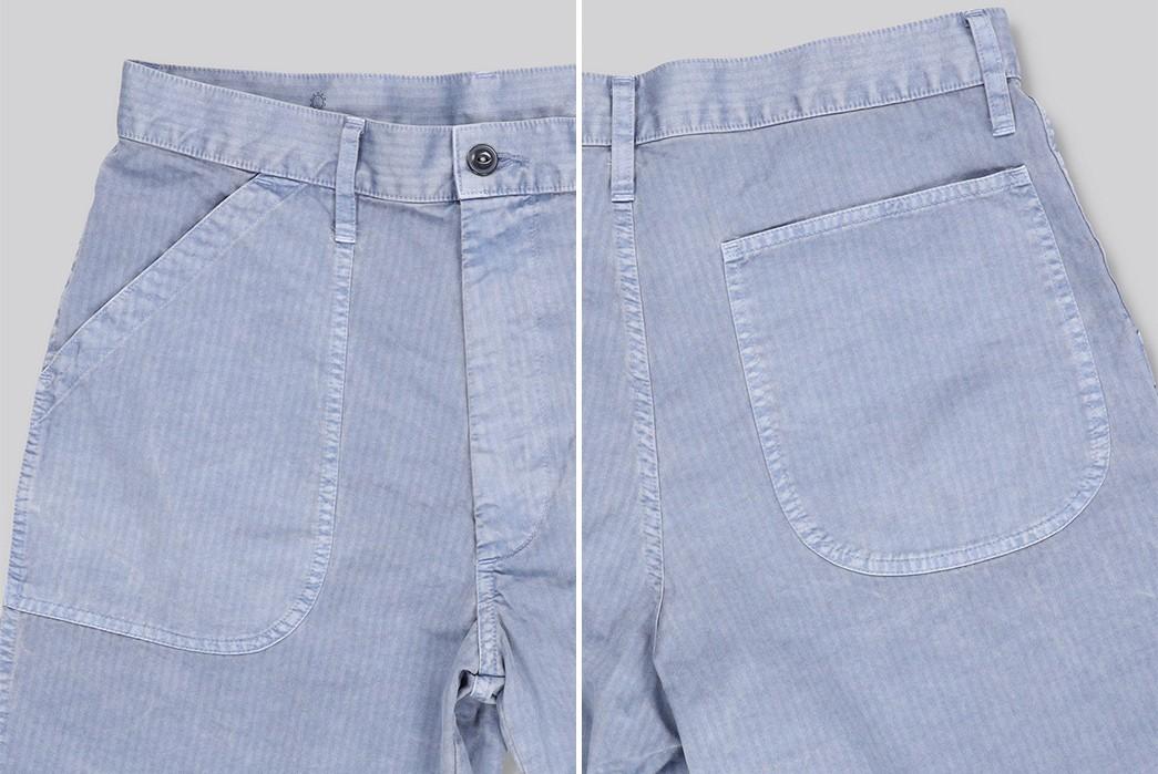 Save-Khaki-Chops-Up-Herringbone-Shorts-For-Summer-blue-front-back-sides