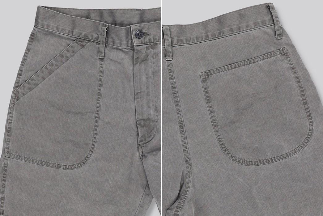 Save-Khaki-Chops-Up-Herringbone-Shorts-For-Summer-grey-front-back-sides