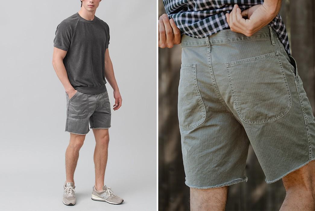 Save-Khaki-Chops-Up-Herringbone-Shorts-For-Summer-grey-front-model