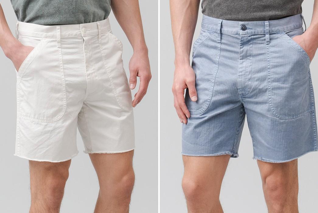 Save-Khaki-Chops-Up-Herringbone-Shorts-For-Summer-white-blue-fronts-model