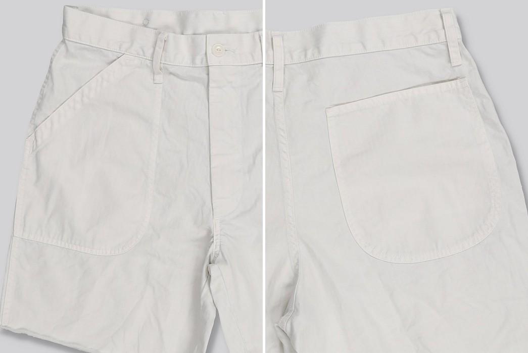 Save-Khaki-Chops-Up-Herringbone-Shorts-For-Summer-white-front-back-sides
