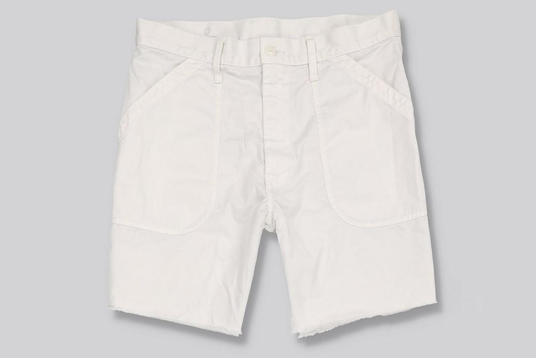 Save-Khaki-Chops-Up-Herringbone-Shorts-For-Summer-white-front