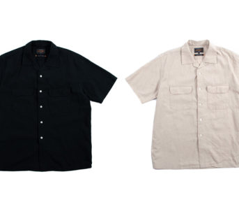 These-Beams-S-S-Open-Collar-Linen-Shirts-Are-A-Summer-Staple-fronts-black-and-light