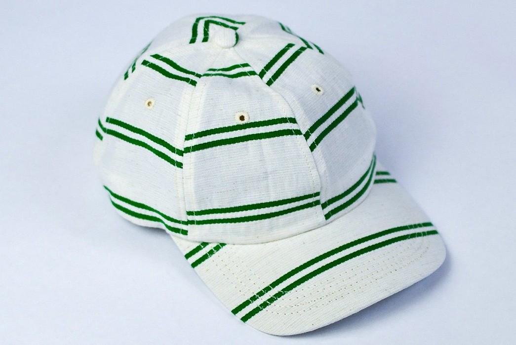Upstate-Stock-Turns-Surplus-Mask-Fabrics-Into-Ball-Caps-white-green