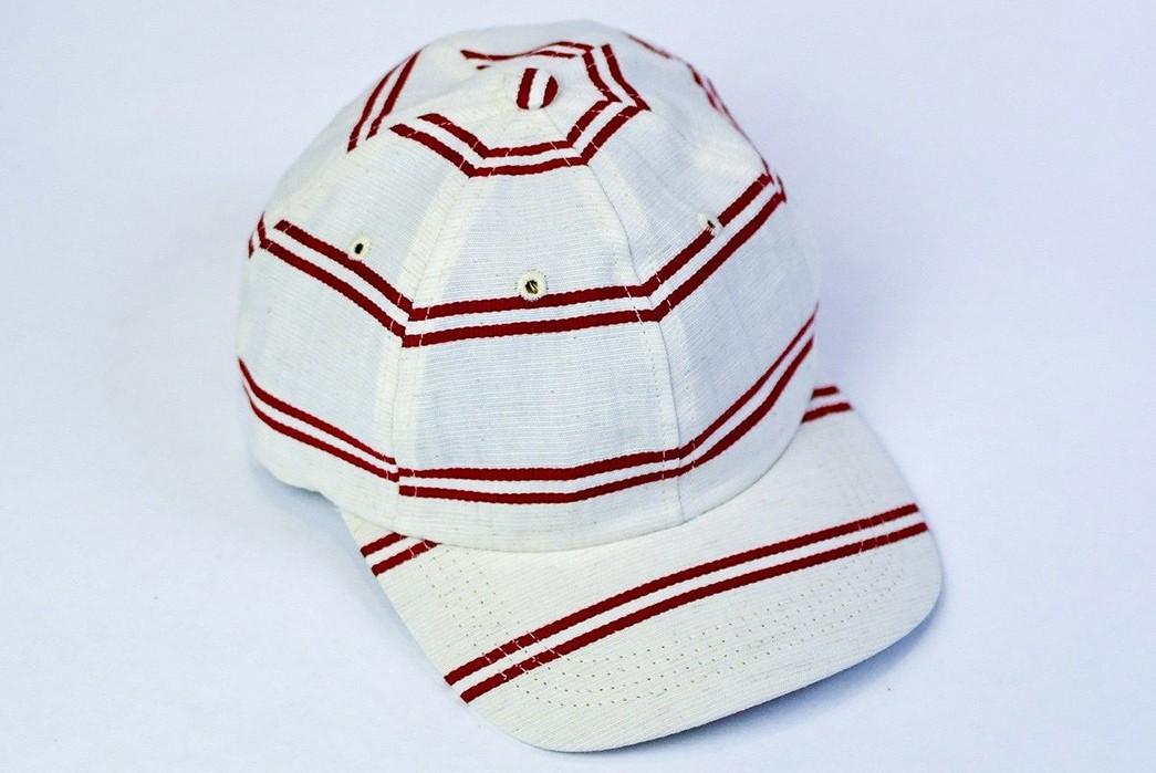 Upstate-Stock-Turns-Surplus-Mask-Fabrics-Into-Ball-Caps-white-red