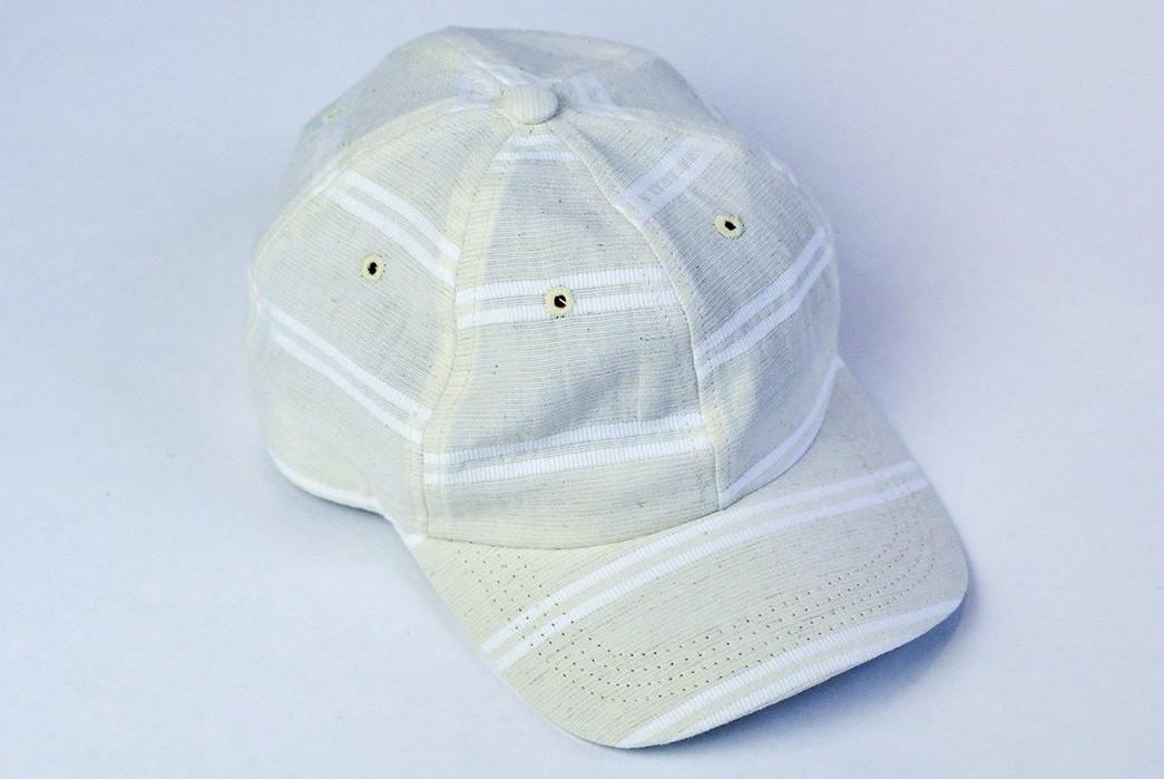 Upstate-Stock-Turns-Surplus-Mask-Fabrics-Into-Ball-Caps-white