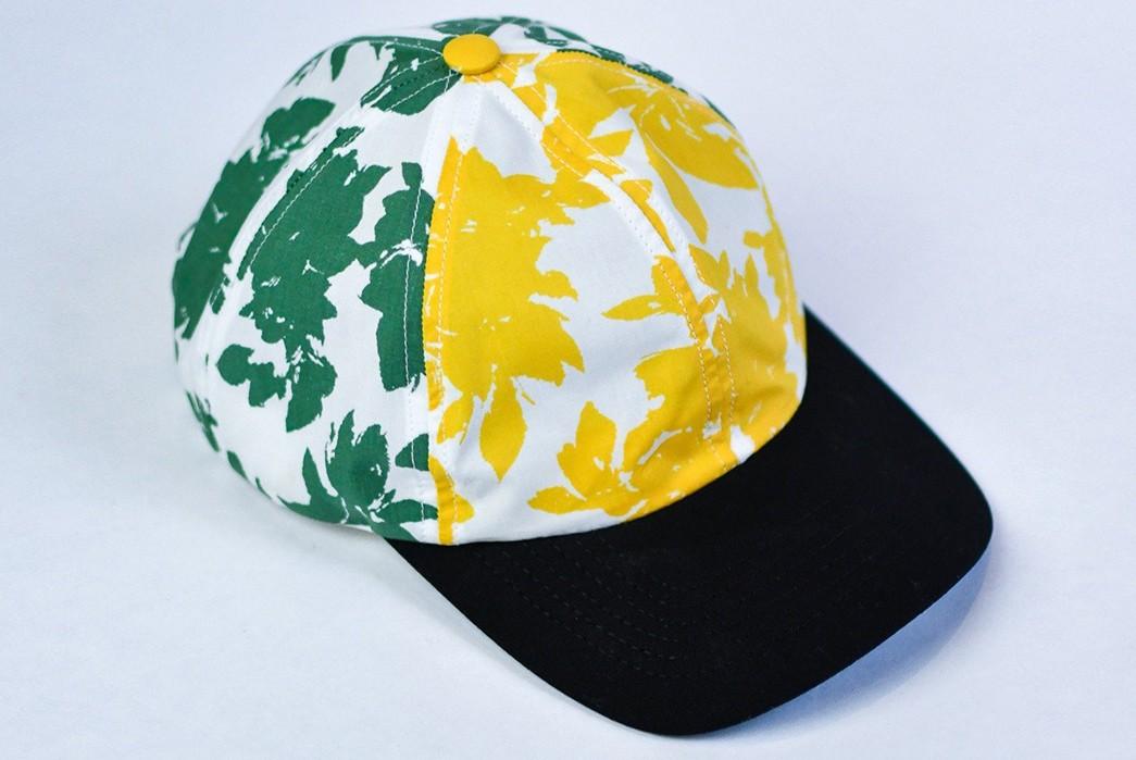 Upstate-Stock-Turns-Surplus-Mask-Fabrics-Into-Ball-Caps-yellow-green