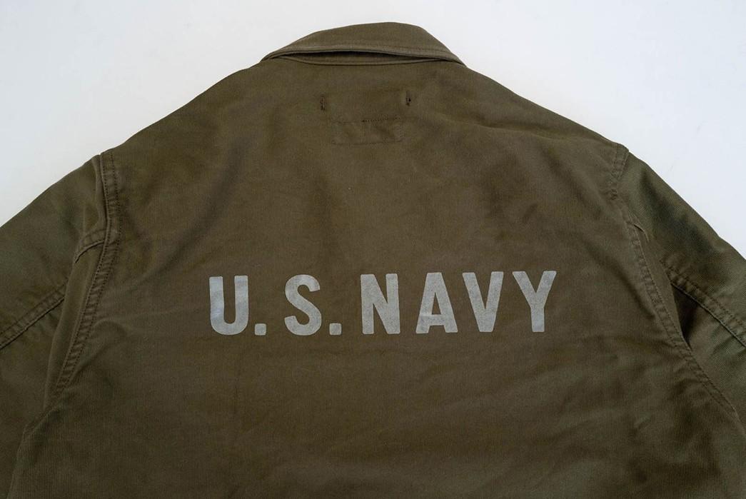 Freewheelers'-USN-Deck-Worker-Jacket-Is-Back-back-detailed