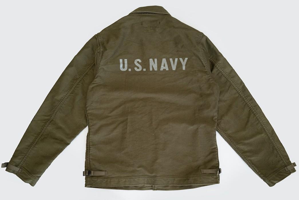 Freewheelers'-USN-Deck-Worker-Jacket-Is-Back-back