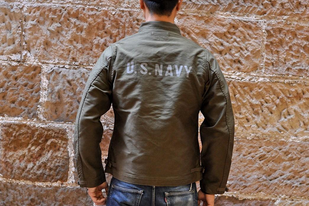 Freewheelers'-USN-Deck-Worker-Jacket-Is-Back-model-back