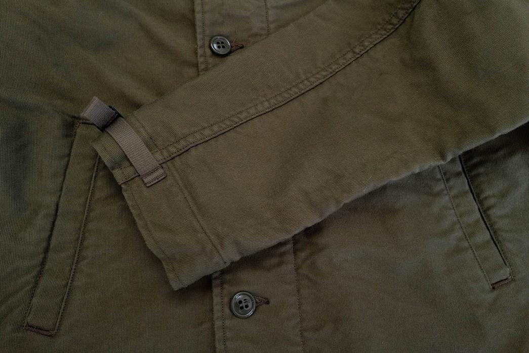 Freewheelers'-USN-Deck-Worker-Jacket-Is-Back-sleeve