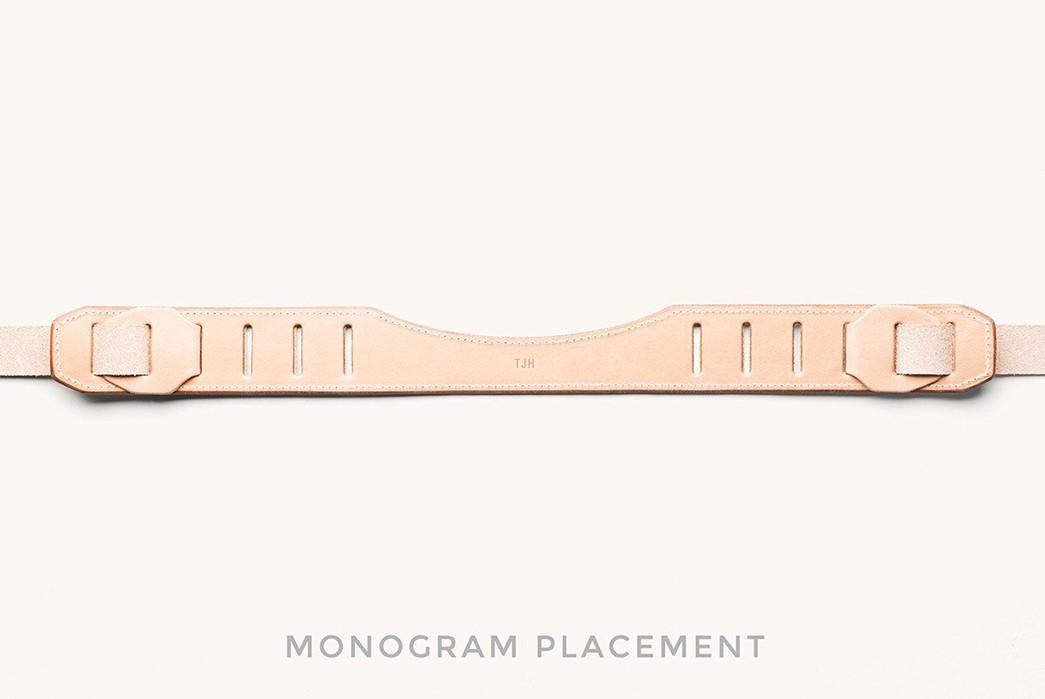 Take-Summer-Snaps-In-Style-With-Tanner-Goods'-Veg-Tan-SLR-Strap-belt-outside-monogram
