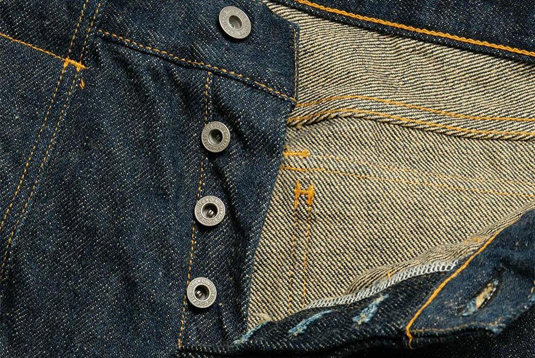 Beat-Around-In-ONI's-Secret-Denim-Bush-Pants-front-top-open-buttons