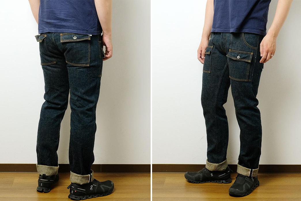 Beat-Around-In-ONI's-Secret-Denim-Bush-Pants-model-back-side-and-front-side