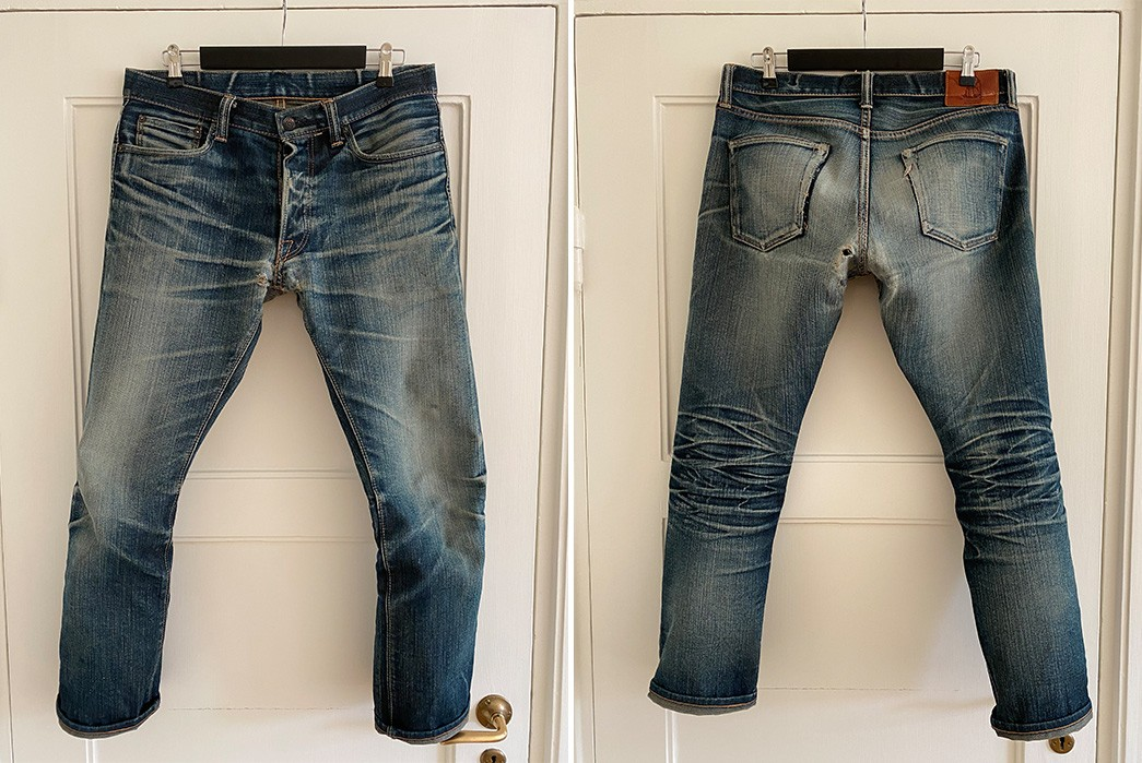 Fade-Friday---Pure-Blue-Japan-X011-(9-Years,-3-Washes,-2-Soaks)-front-back
