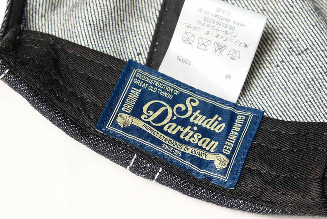 Keep-Your-Dome-Raw-with-Studio-D'Artisan's-Lot.D7524--Denim-Cap-inside-brand