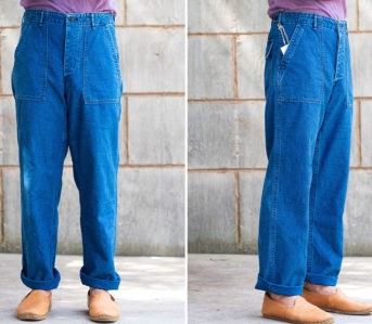orSlow-Renders-Its-Esteemed-Fatigue-Pant-In-Washed-Indigo-model-front-and-side