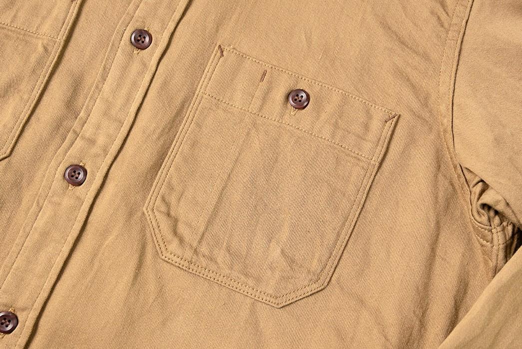 Suevas-Renders-Its-Workshirt-In-Chsrming-Selvedger-Moleskin-front-pockets