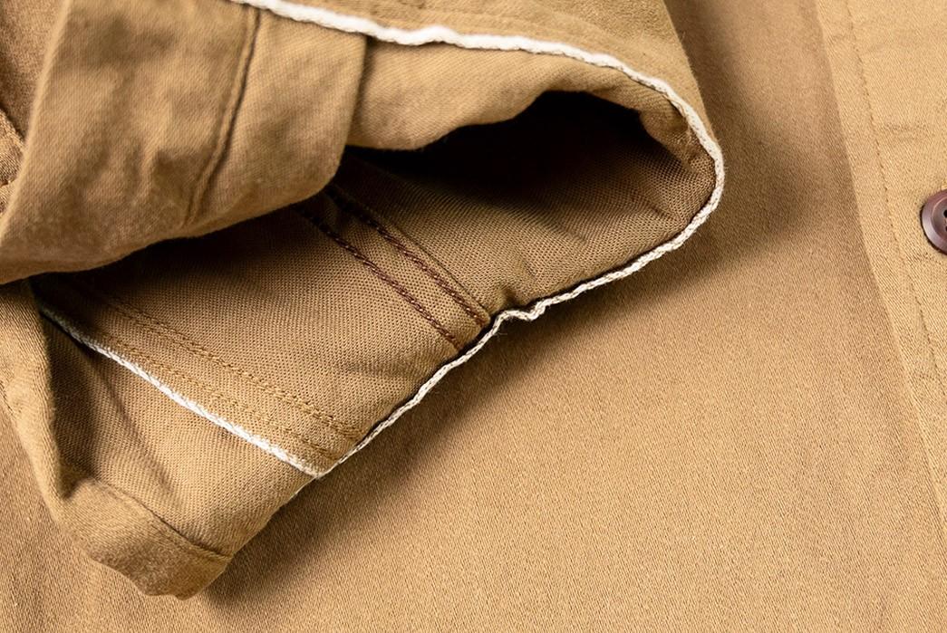 Suevas-Renders-Its-Workshirt-In-Chsrming-Selvedger-Moleskin-sleeve-inside