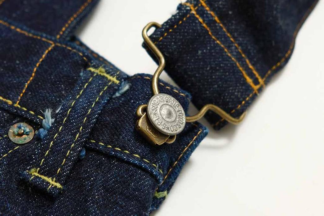 Sugar-Cane-Chops-Up-Old-Favorites-Into-2-Way-Denim-Franken-Bags-dark-blue-button-and-belt