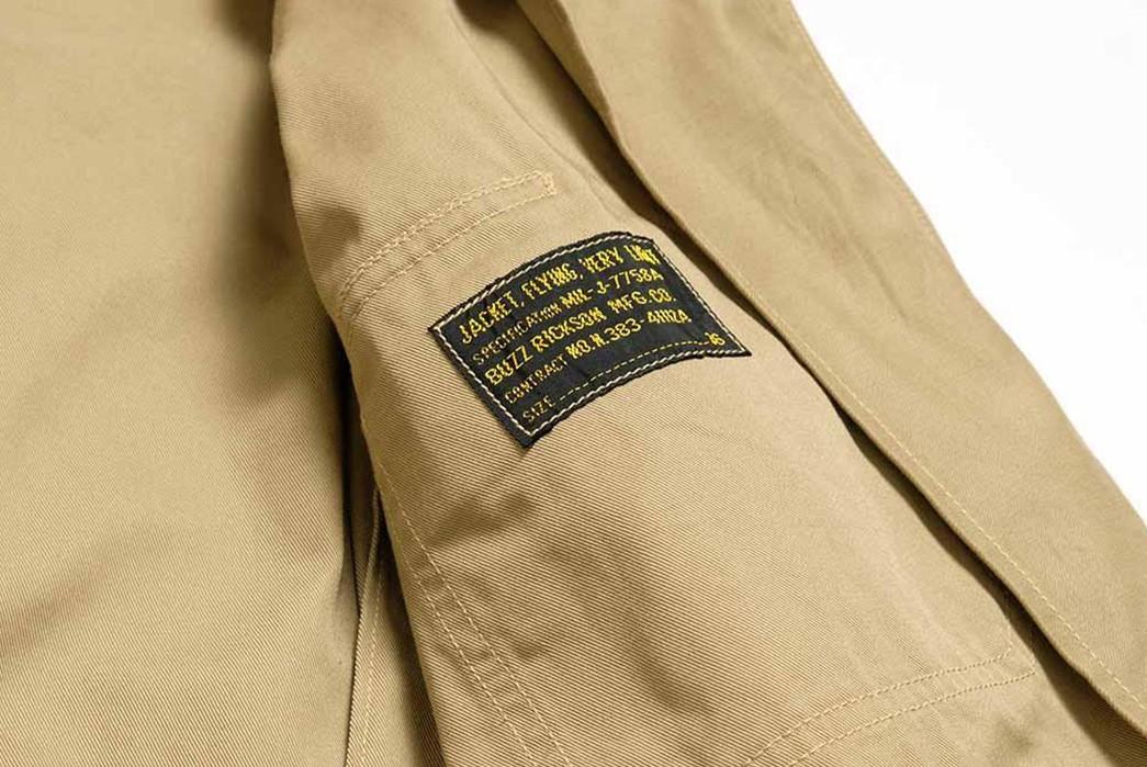 Buzz-Rickson's-Has-Issued-Its-Summer-Ready-MIL-J-7758A-Flight-Jacket-inside-brand