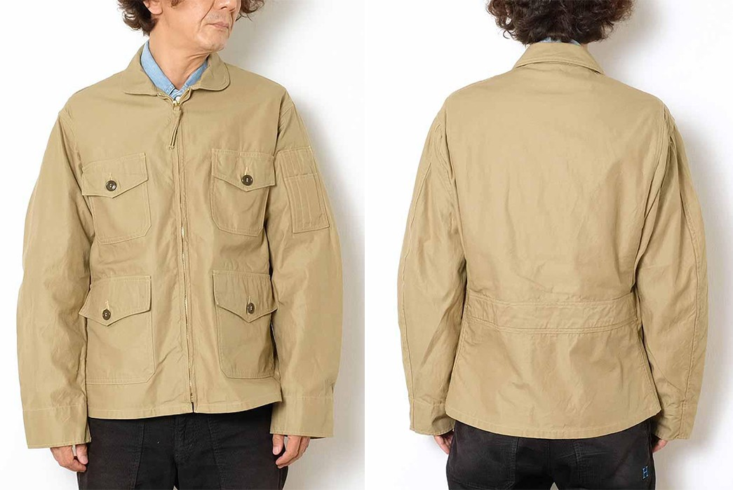 Buzz-Rickson's-Has-Issued-Its-Summer-Ready-MIL-J-7758A-Flight-Jacket-model-front-back