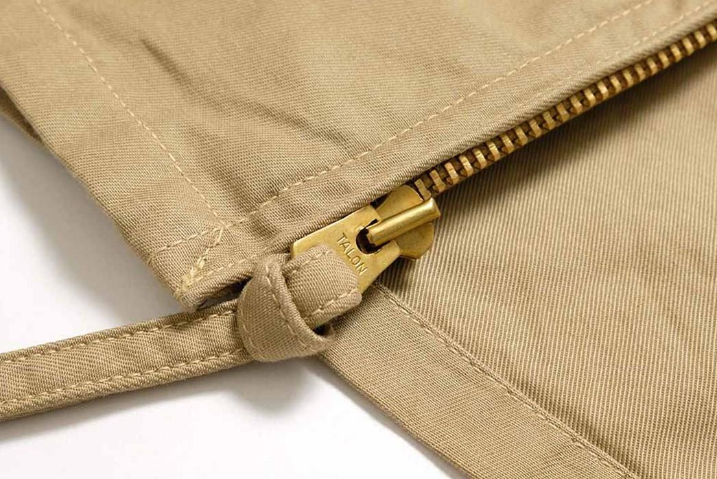 Buzz-Rickson's-Has-Issued-Its-Summer-Ready-MIL-J-7758A-Flight-Jacket-zipper