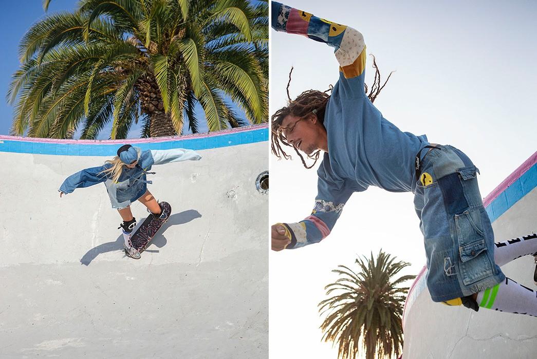 Erik-Kvatek-Shoots-Provocative-Lookbook-For-Kapital-Kountry-female-and-male-on-skate