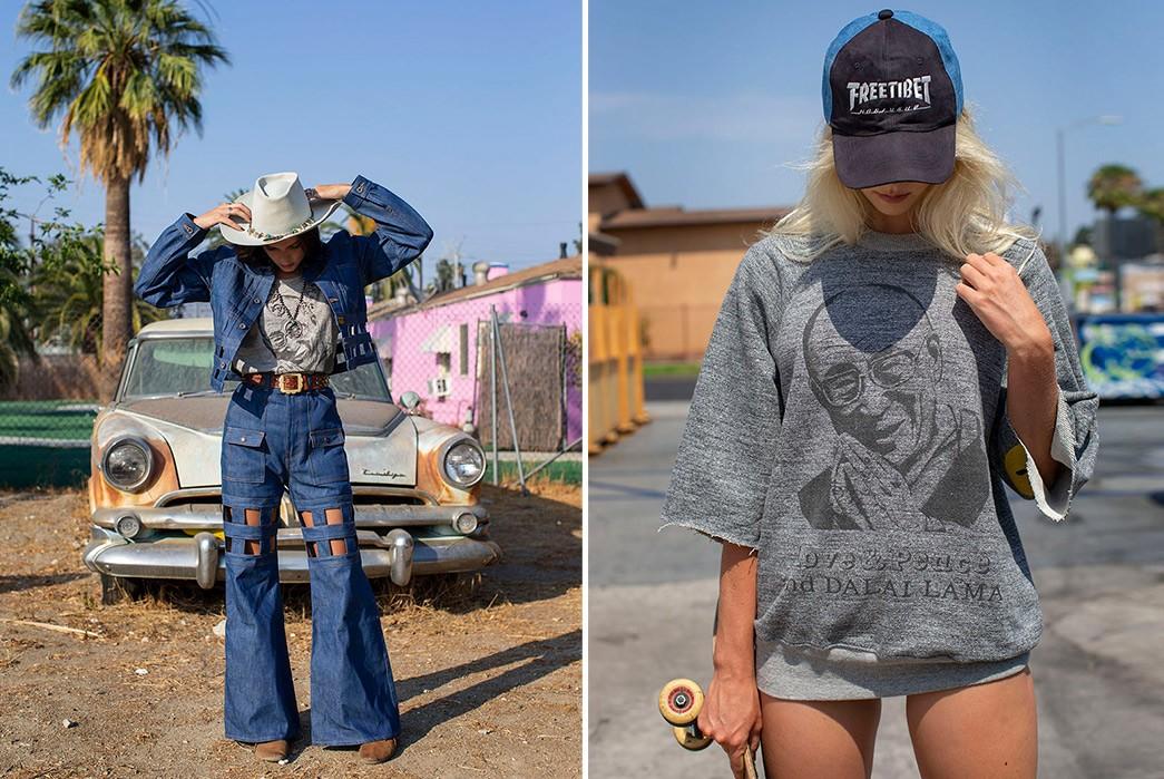 Erik-Kvatek-Shoots-Provocative-Lookbook-For-Kapital-Kountry-female-in-blue-and-with-skate