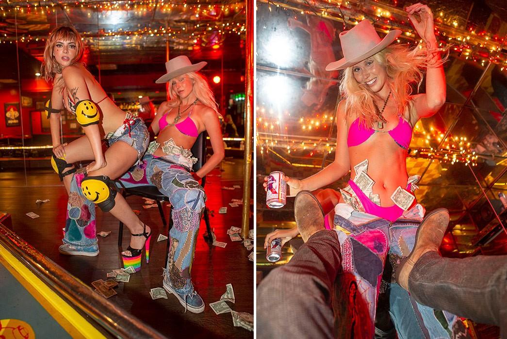 Erik-Kvatek-Shoots-Provocative-Lookbook-For-Kapital-Kountry-females-in-striptease-bar-and-money