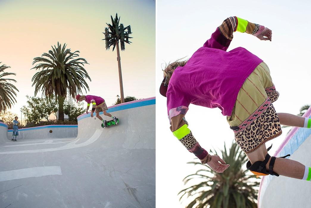 Erik-Kvatek-Shoots-Provocative-Lookbook-For-Kapital-Kountry-male-in-pink-on-skate