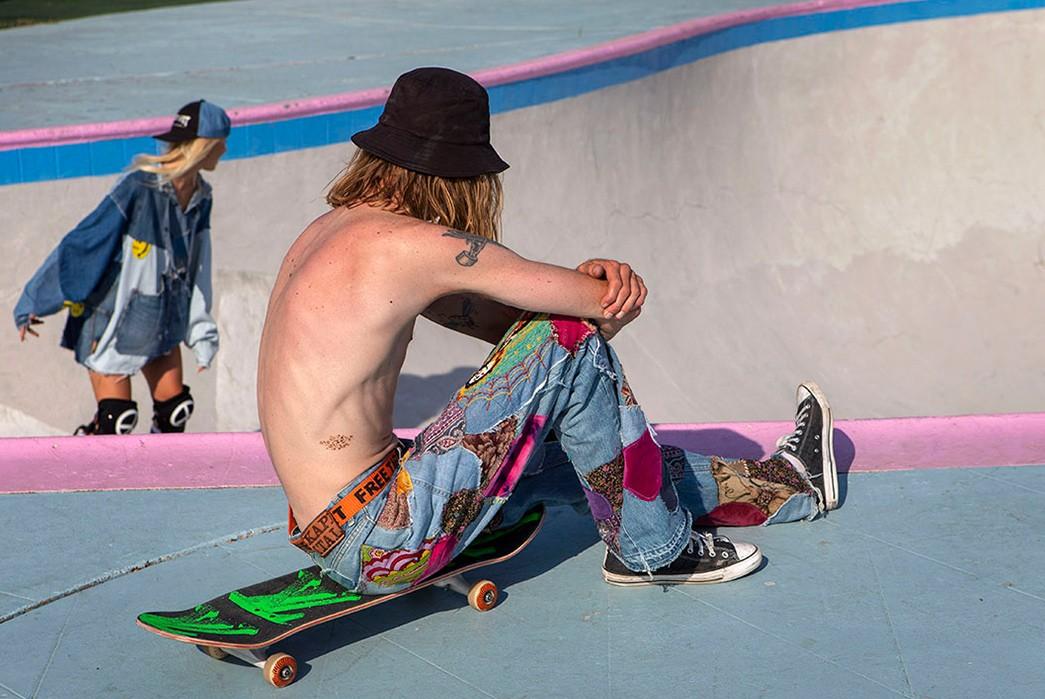 Erik-Kvatek-Shoots-Provocative-Lookbook-For-Kapital-Kountry-male-sitting-on-skate