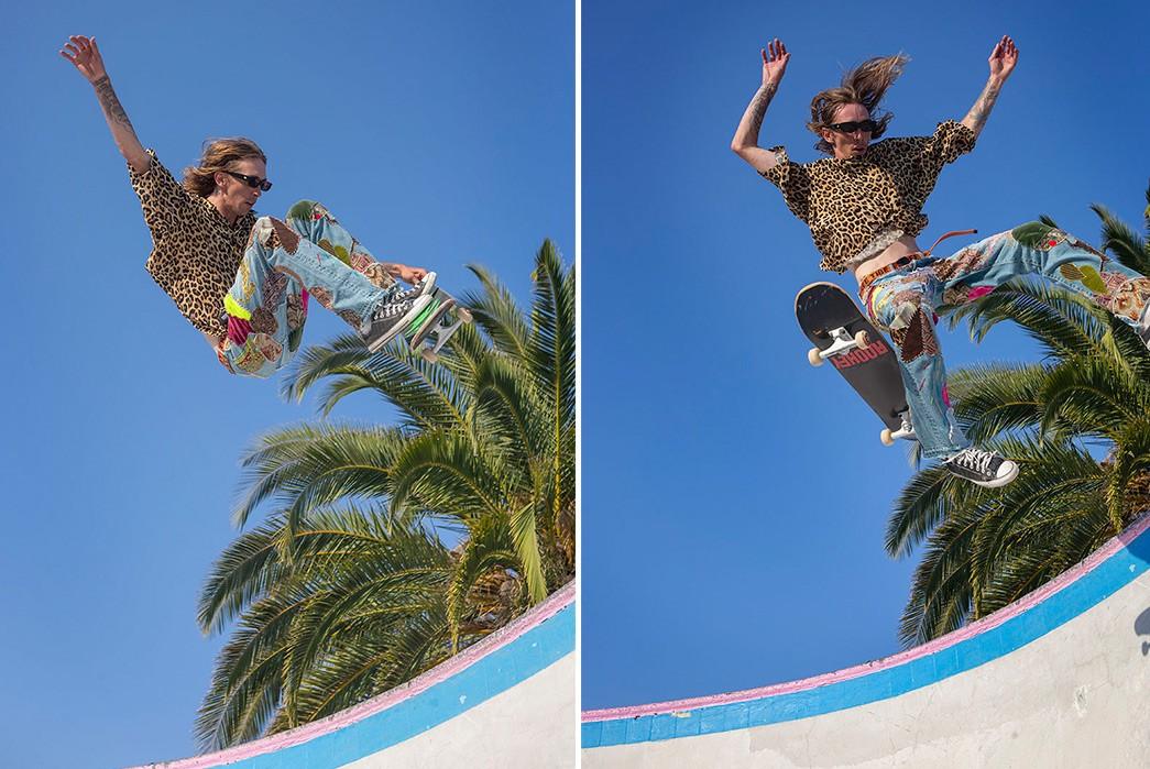 Erik-Kvatek-Shoots-Provocative-Lookbook-For-Kapital-Kountry-male-with-skate-in-air