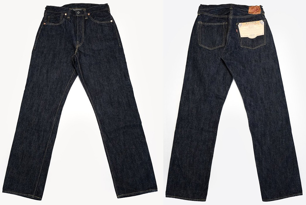 Freewheelers'-S601XX-Jean-Is-Inspired-By-Levi's-501-From-1944-45-front-back