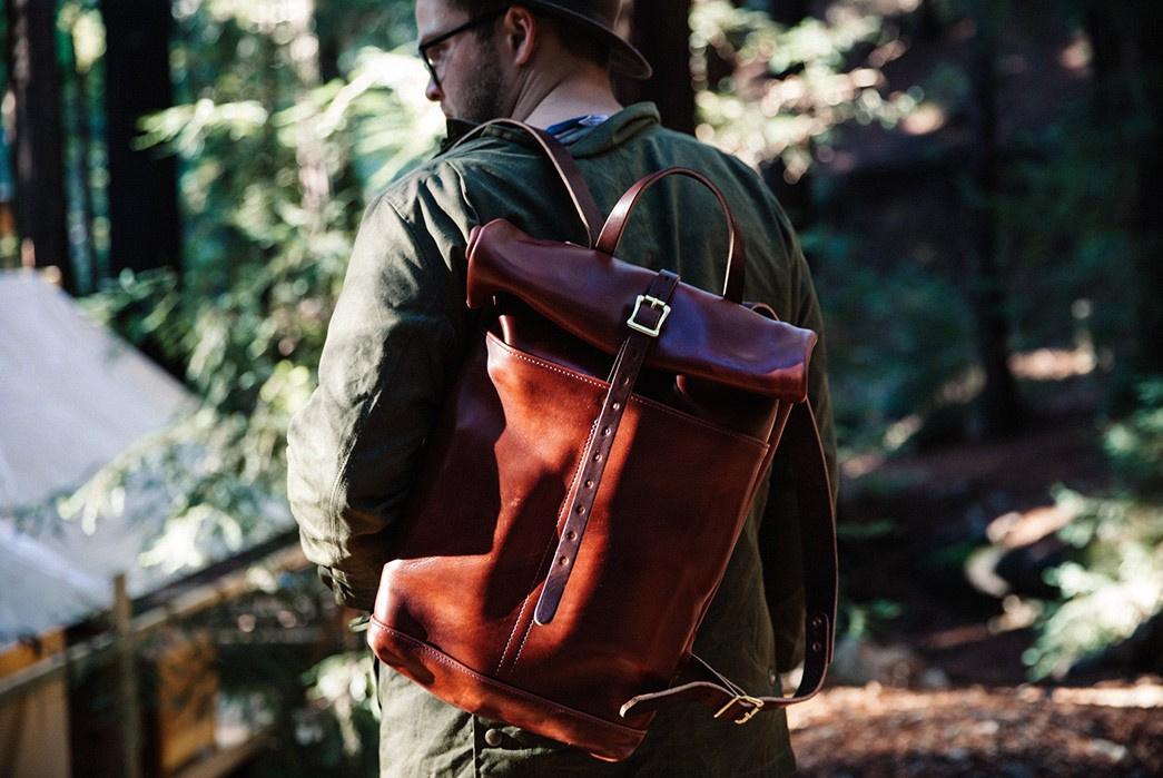 Start-A-Patina-Adventure-With-Loyal-Stricklin's-Leather-Rucksack-model-back-2